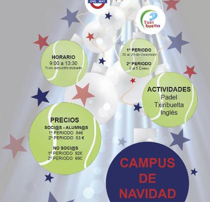 campus de navidad padel norte